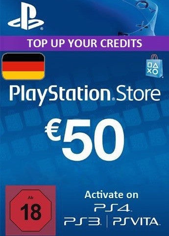PSN Network Subscription Key - €50 (Germany)