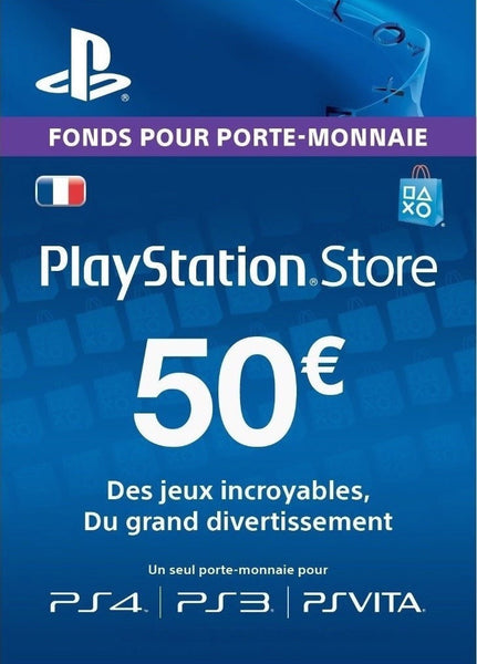 Carte Playstation Network €50 - Digizani