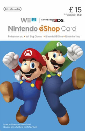 £15 Nintendo eShop Card Code (UK)