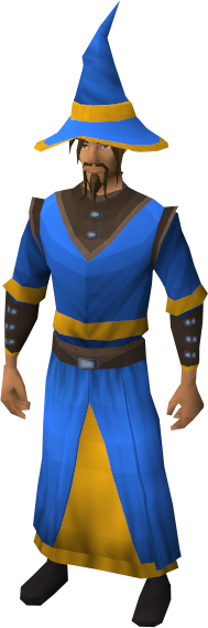 Gold Trimmed Blue Wizard Set