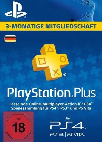 Playstation Plus - 3 Month Membership (Germany)