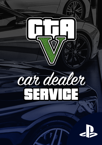 GTA car dealer service for PS4 and PS5