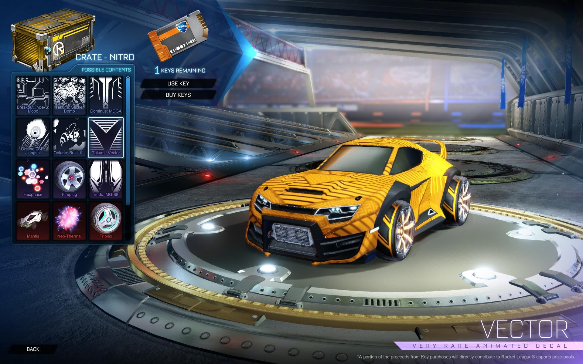 rocket league nitro crate xbox one