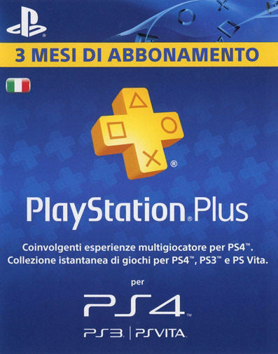 PlayStation Plus  - 3 Mesi Di Abbonamento (Italy)