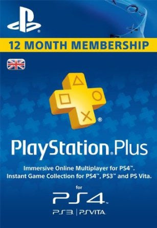 Playstation Plus - 12 Month Membership (UK)