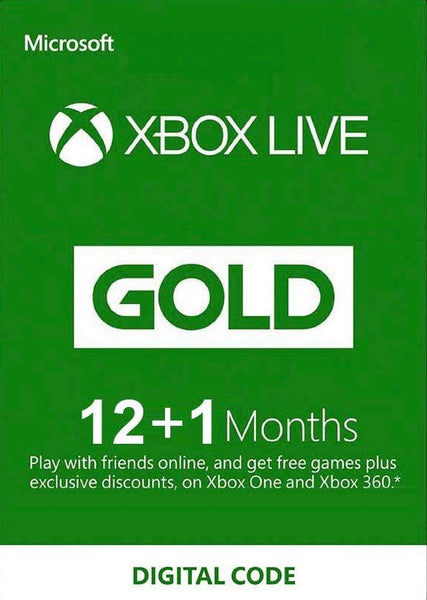 12 + 1 Month Xbox Live Gold Membership