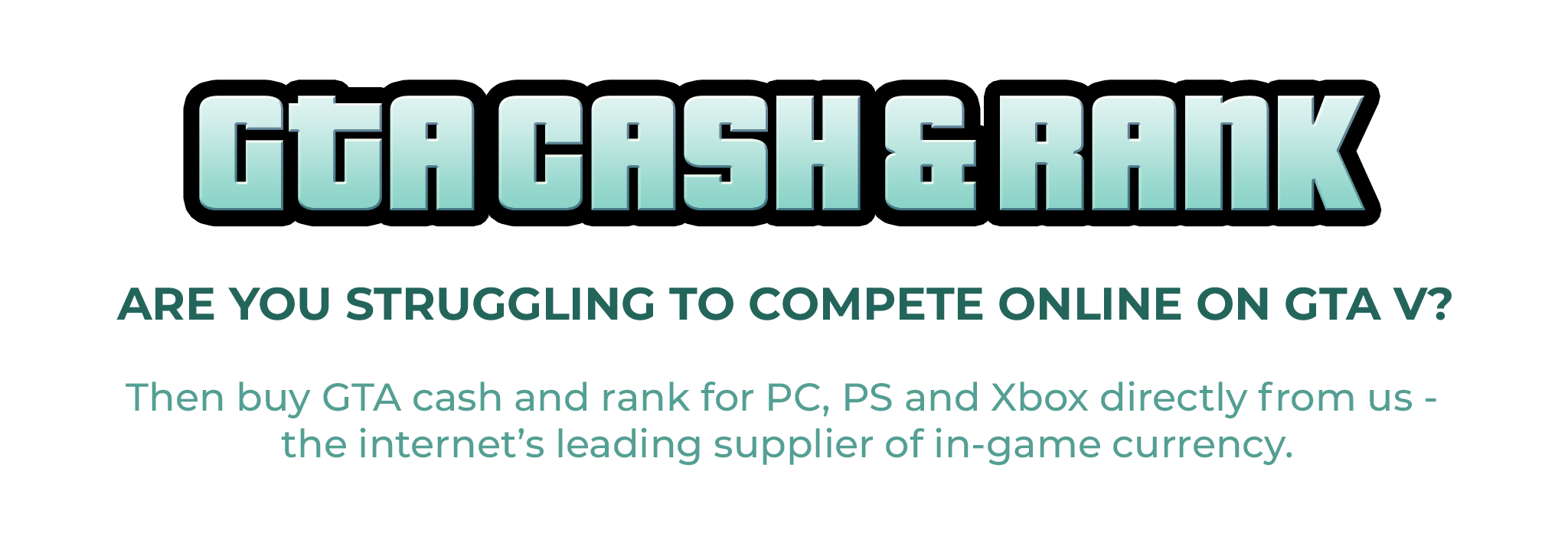 GTA Cash & Rank promo