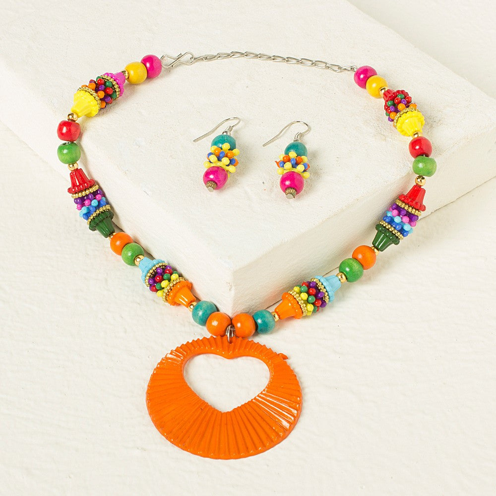 Multicolor Necklace set - Orange