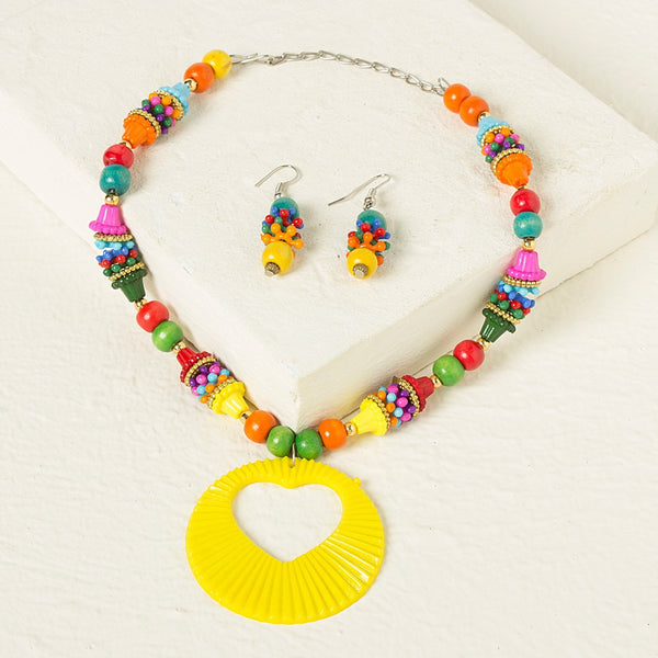 Multicolor Necklace set - Yellow
