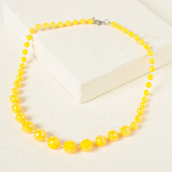 Beads Necklace - Yellow