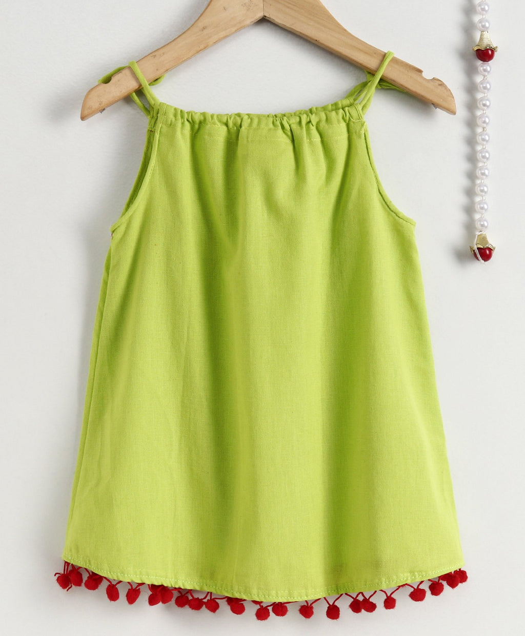 BownBee Infant Adjustable Cotton Jhabla- Green