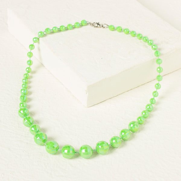 Beads Necklace - Green