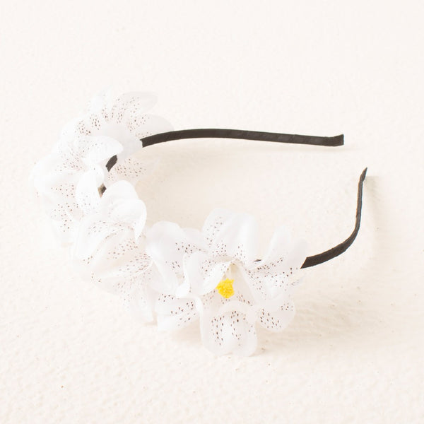 Princess Floral headband - White