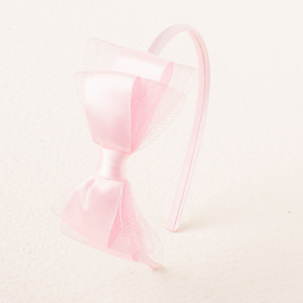 Pretty Bow Headband - Light Pink