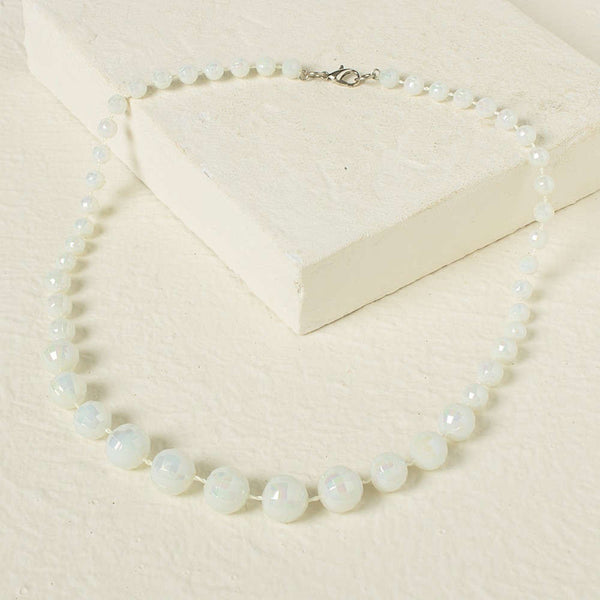 Beads Necklace -White