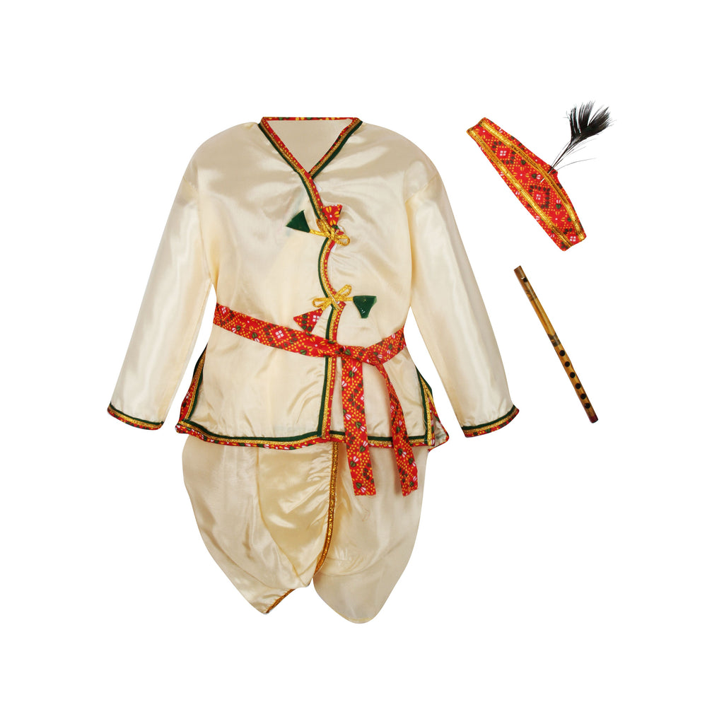Bownbee Kanhaiya Dhoti Kurta for Boys - Off White - BownBee - Creating Special Moments