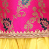 Jacquard Halter Neck Top With Dhoti- Pink