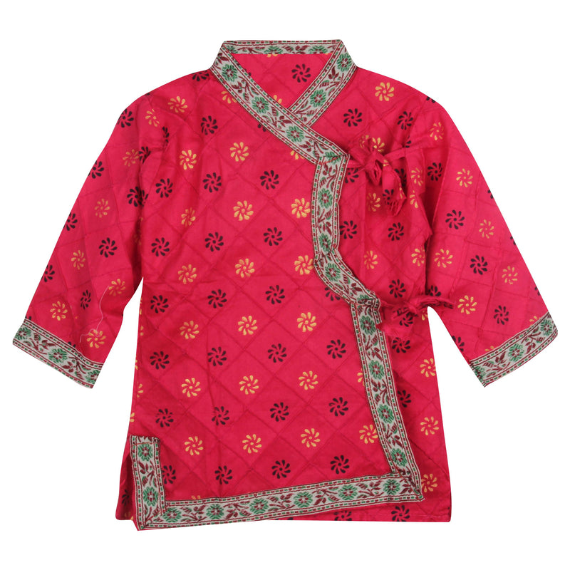 BownBee Cotton Angrakha dhoti kurta for boys - PINK - BownBee - Creating Special Moments
