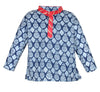 Sanganeri Printed Cotton Dhoti Kurta for Boys - Blue & Red