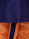 Full Sleeve Dhoti Kurta For Baby Boy- Orange