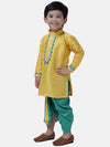 Full Sleeve Dhoti Kurta For Baby Boy-Yellow