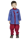 Blue-Red Sherwani Breeches Suit - BownBee - Creating Special Moments