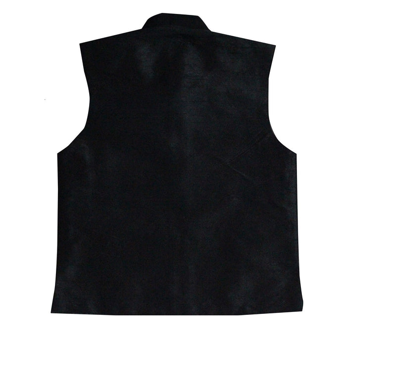 Party wear waistcoat - Black