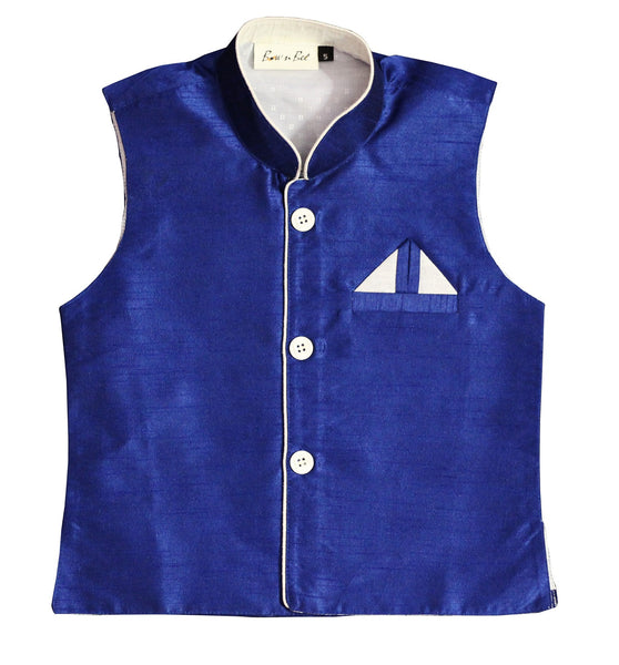 Party wear waistcoat - Navy Blue
