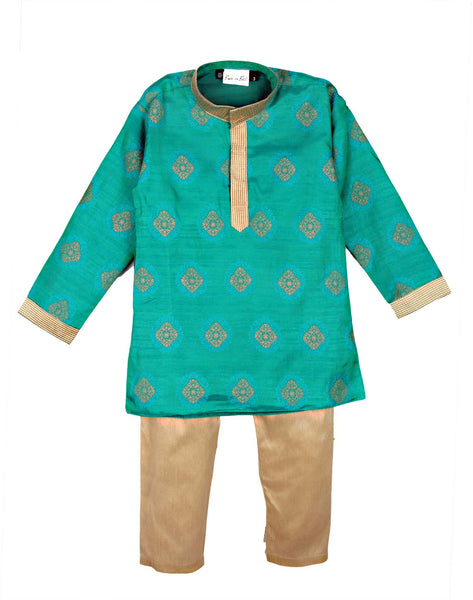 Little Prince Kurta Pyjama - Green