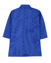 Ethnic Grace Jacquard Kurta Pajama For Boy - Blue - BownBee - Creating Special Moments