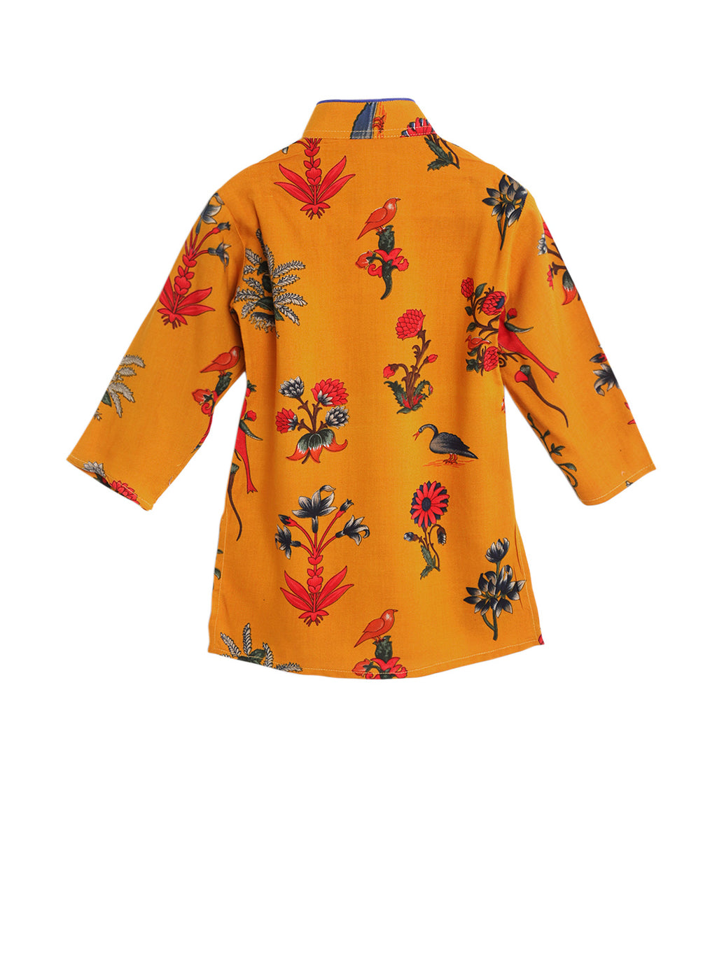Digital Print Rayon Kurta With Churidar- Yellow - BownBee - Creating Special Moments