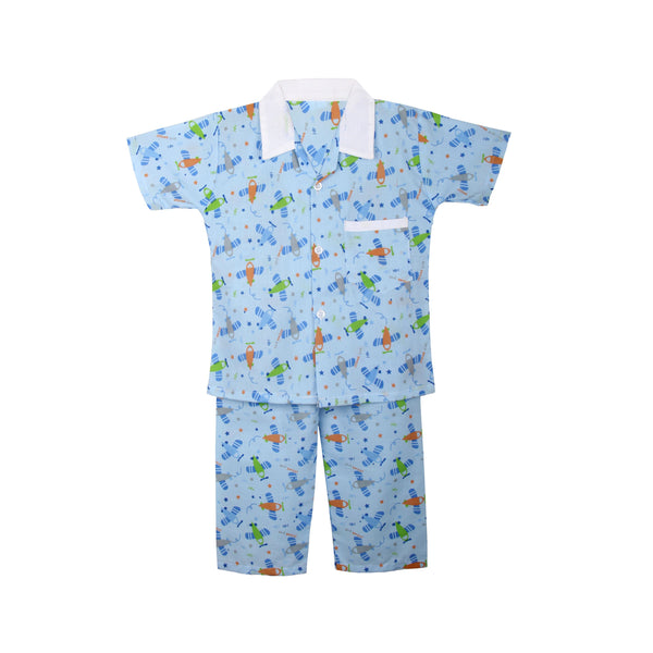 Cotton Night Suits for Baby Boys -Blue