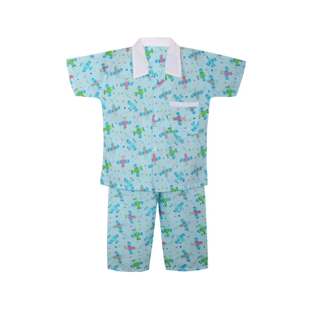 Cotton Night Suits for Baby Boys - Green - BownBee - Creating Special Moments
