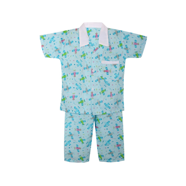 Cotton Night Suits for Baby Boys - Green