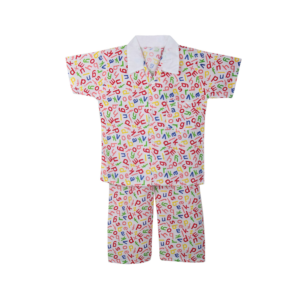 Cotton Night Suits for Baby Boys - Red - BownBee - Creating Special Moments