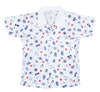 Boat print cotton night suit for Boys - blue - BownBee - Creating Special Moments