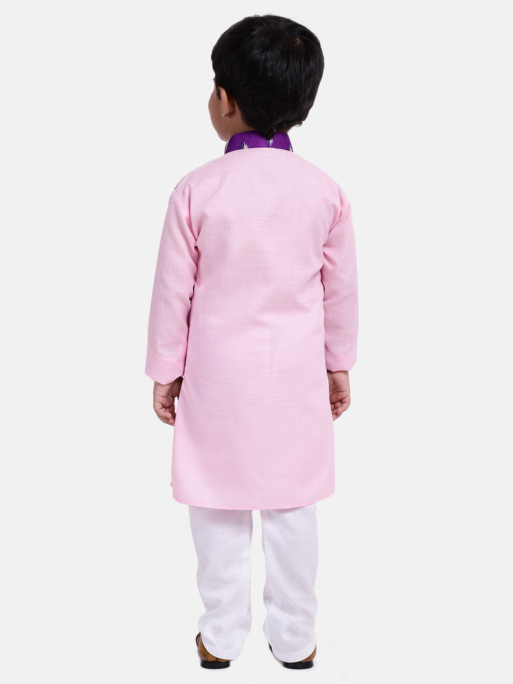 Attached Jacket Full Sleeve Kurta Pajama-Pink