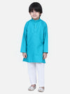 Full Sleeve Stand Collar Kurta Pajama- Teal