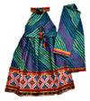 Laheriya Border Embroidery Chaniya Choli - Blue
