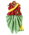 Attached Dupatta  Peplum With Dhoti- Maroon - BownBee - Creating Special Moments