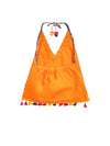 Patan Patola Kutch Embroidery Dhoti Top- Orange