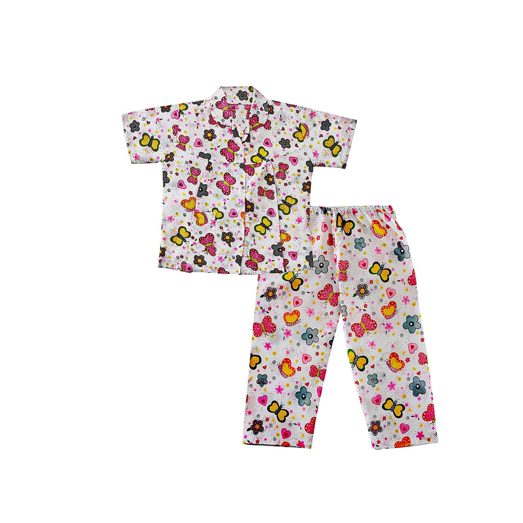 Bownbee Butterfly Print Night Suit - Pink - BownBee - Creating Special Moments