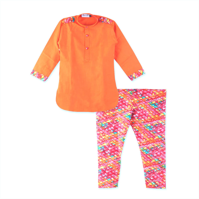 Boys Pathani Kurta with Printed Salwar - BownBee - Creating Special Moments