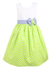 Polka dot with Bow Dress - Green