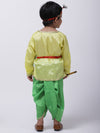 Kanhaiya Suit With Mukut & Waistband-Yellow & Green