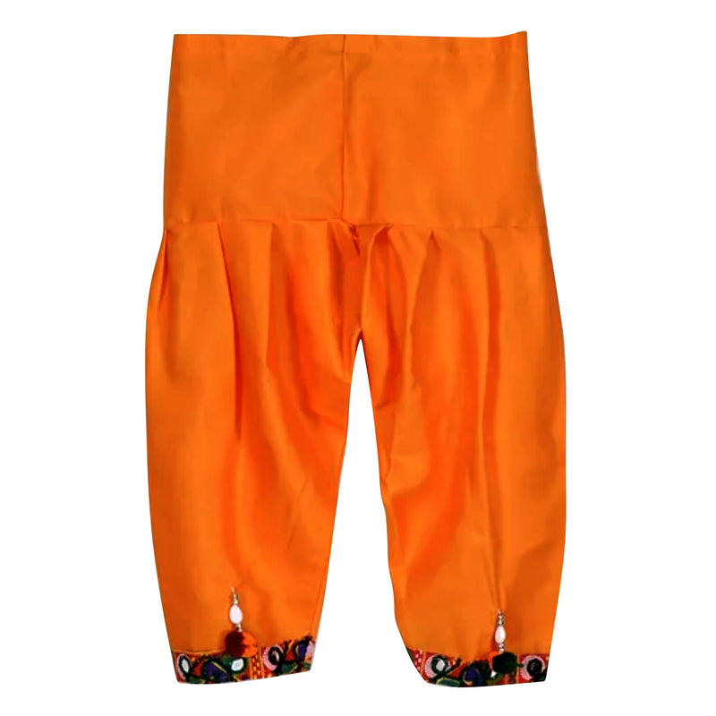 Bownbee Full Sleeves mirror work Kedia dhoti set - Orange - BownBee - Creating Special Moments