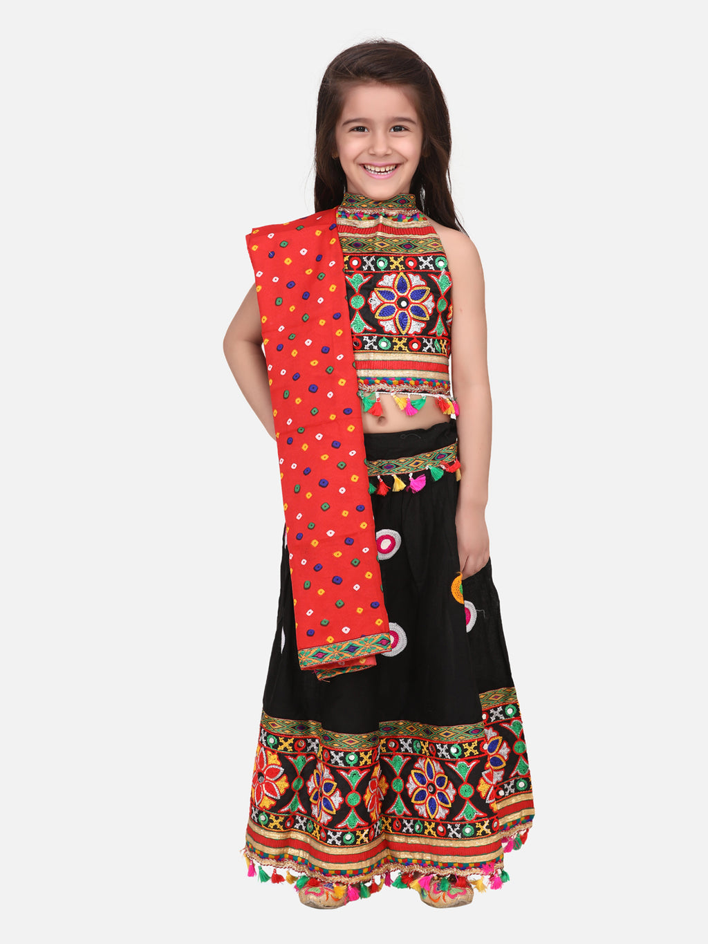 Mirror Work Chaniya Choli -Black