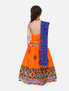 Mirror Work Chaniya Choli -Orange