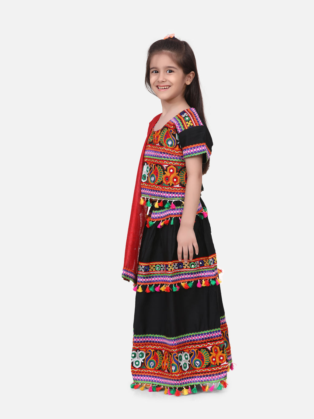 Rayon Chaniya Choli - Black