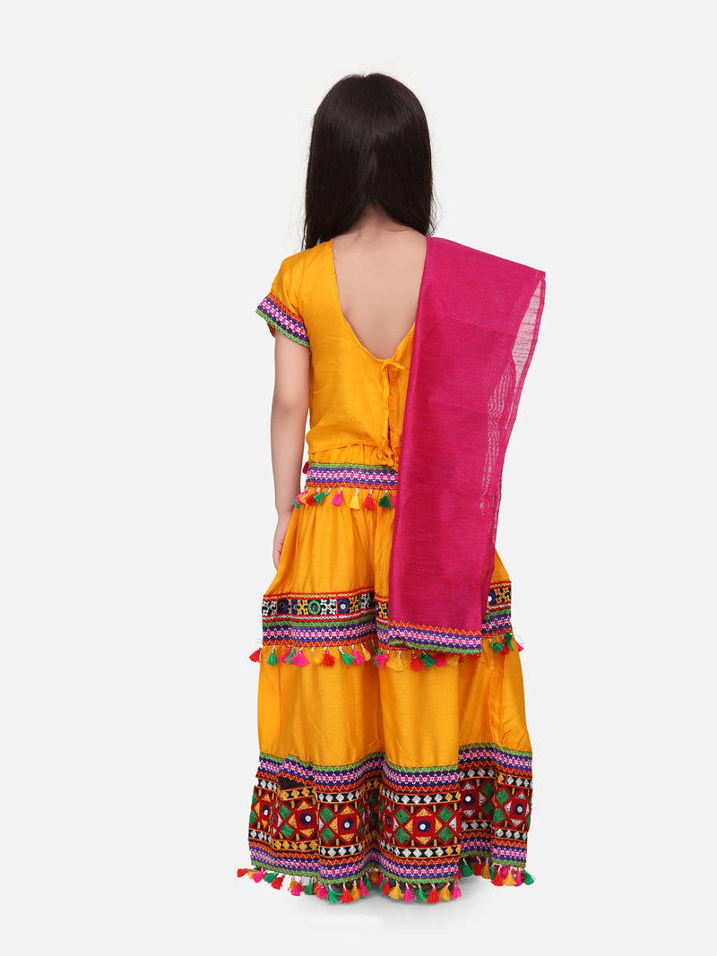 Rayon Chaniya Choli - Yellow